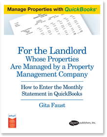 Landlord whose properties are managed by property managers using quickbooks