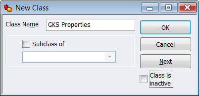 QuickBooks Property Owner as a Class