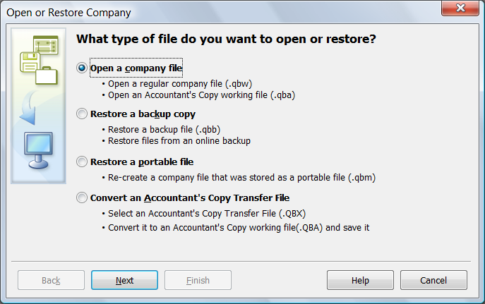 Convert QuickBooks File to New Version