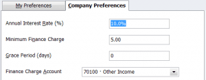 QuickBooks Finance Charge Company Preferences - Part 1