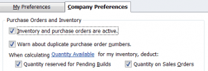 QuickBooks Items and Inventory Part 1