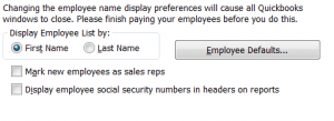 QuickBooks Payroll and Employees Company Preferences Part 3