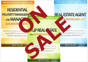 real estate and property management quickbooks books