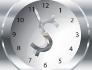 Clock with $ for Payroll