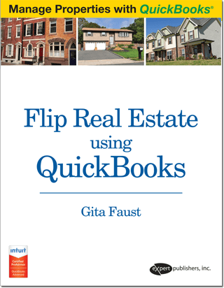 Flip Real Estate Using QuickBooks Book Cover