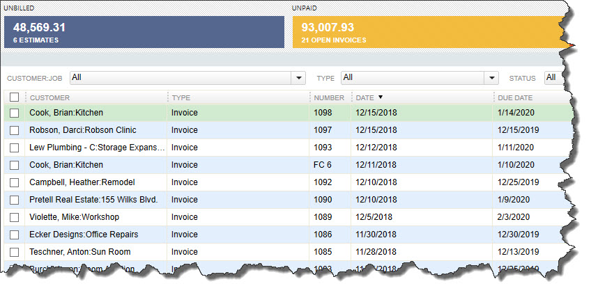 QuickBooks' Income Tracker provides a visual overview of your company's income.