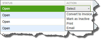 You can modify transactions like estimates from within the Income Tracker.