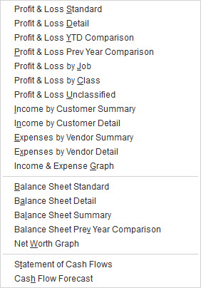 We hope you'll let us help you by running and interpreting these standard financial reports.