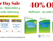 40% Labor Day 2014 QuickBooks Sale