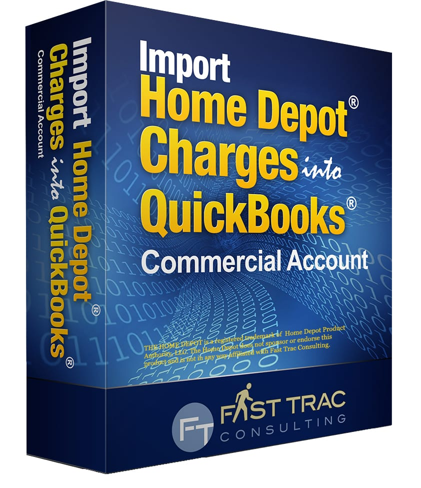 Home Depot Commercial : Import home depot into quickbooks credit card charges app
