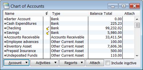 Missing 3 Accounts In Quickbooks