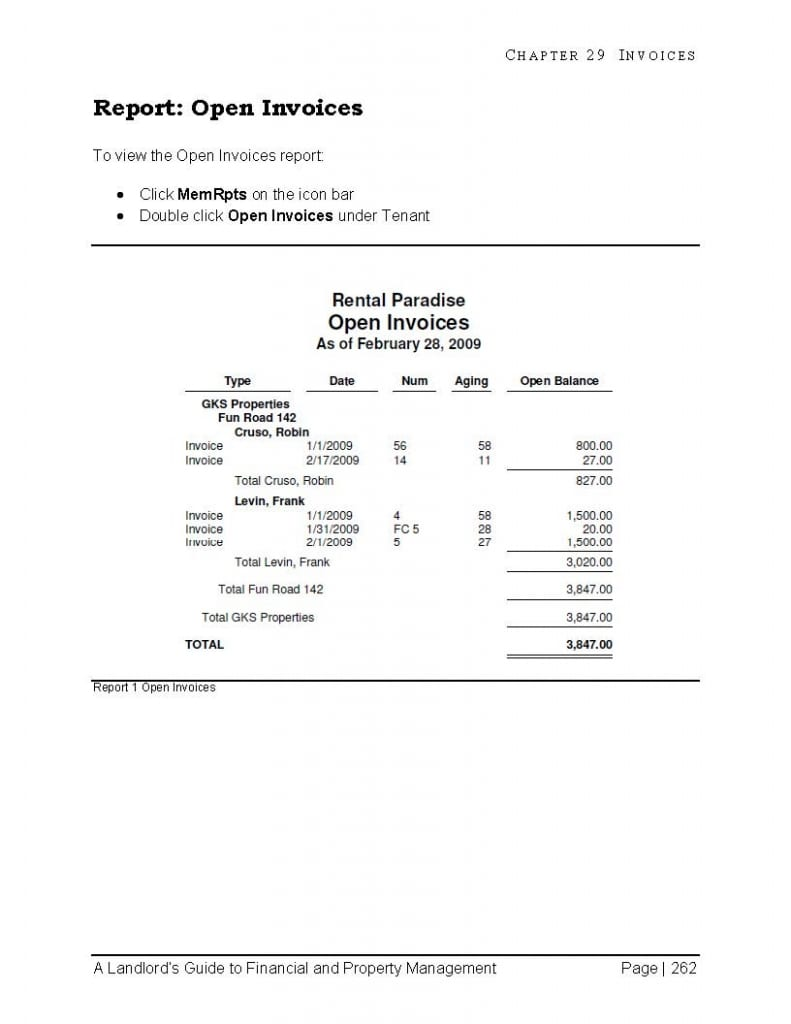 For Landlords Residential Property Management With QuickBooks Desktop - Vacation rental invoice template