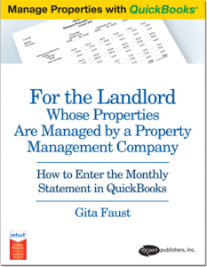quickbooks guide for landlord third party managed properties book cover