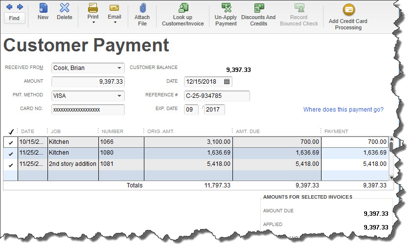 A Quick Tour Of The Intuit Merchant Service Center - Quickbooks invoice credit card payment