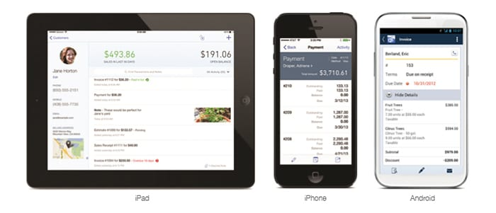 quickbooks online devices ipad iphone android