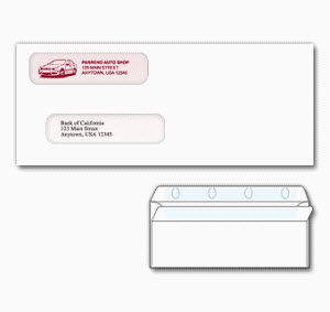 self seal standard voucher check envelopes