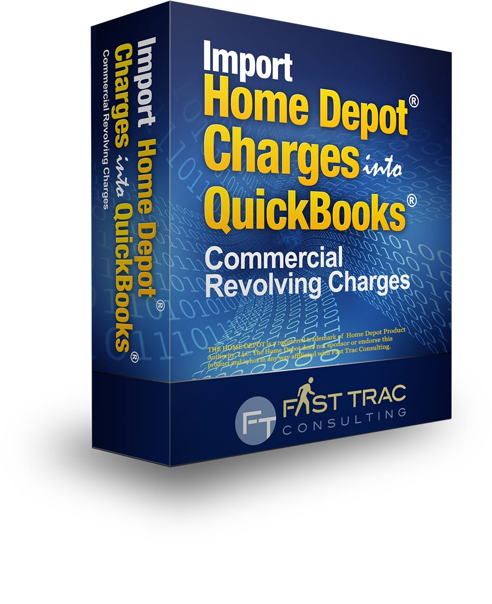 Import Home Depot Commercial Revolving Charges into QuickBooks
