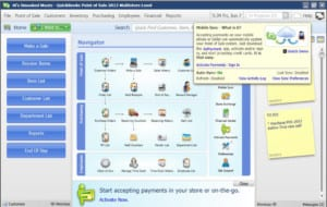 quickbooks point of sale (POS) accept credit cards