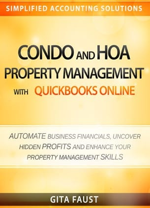condo hoa property management quickbooks online book cover