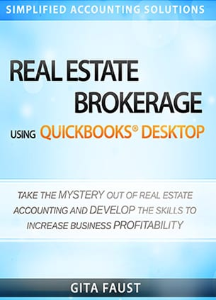 real estate brokerage quickbooks desktop book cover
