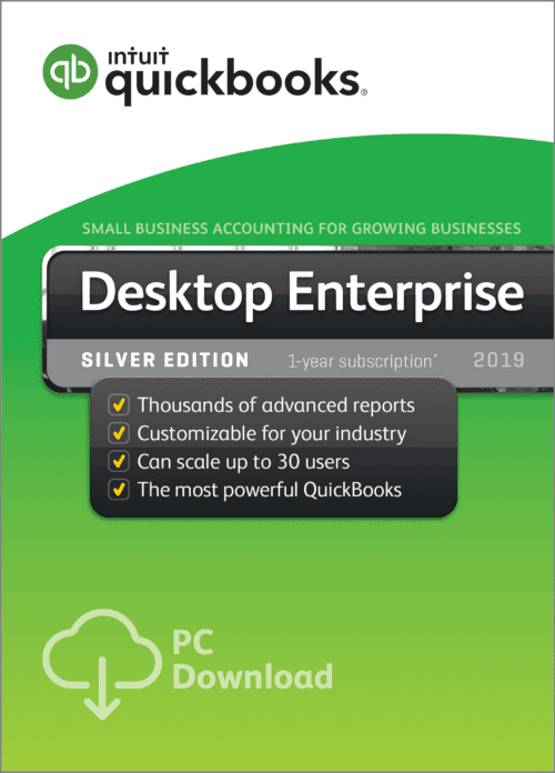 QuickBooks Enterprise Silver edition 2019 Desktop