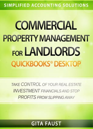 commercial property management landlords quickbooks desktop book cover