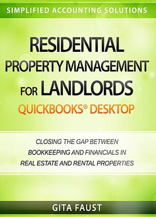 residential property management landlords quickbooks desktop book cover