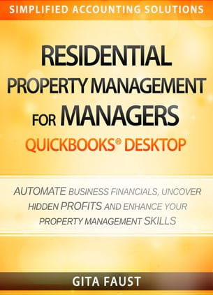 residential property management managers quickbooks desktop book cover