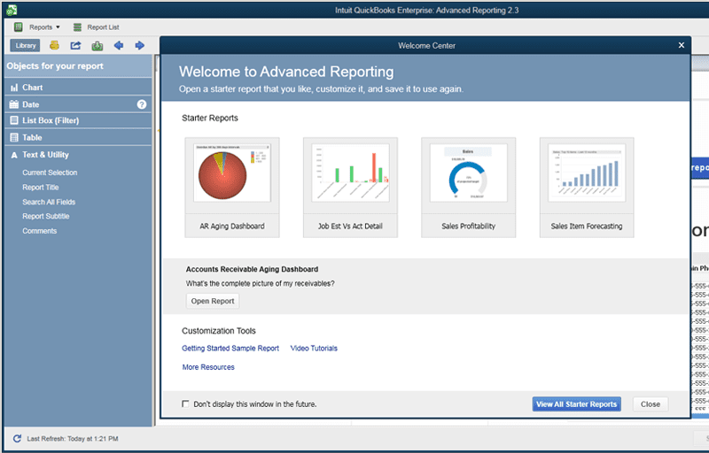 enterprise 17 advance reporting