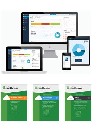 QuickBooks Online Subscription Plus Essentials Advanced Simple Start