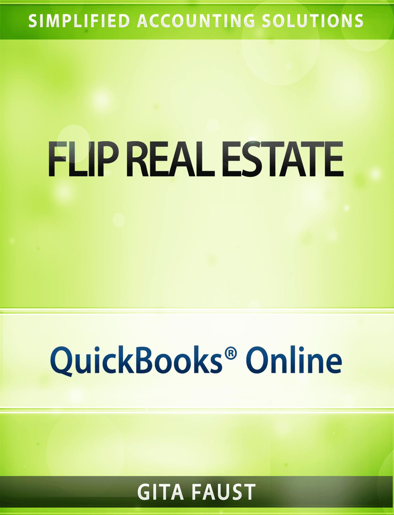 QuickBooks Online for Real Estate Flip