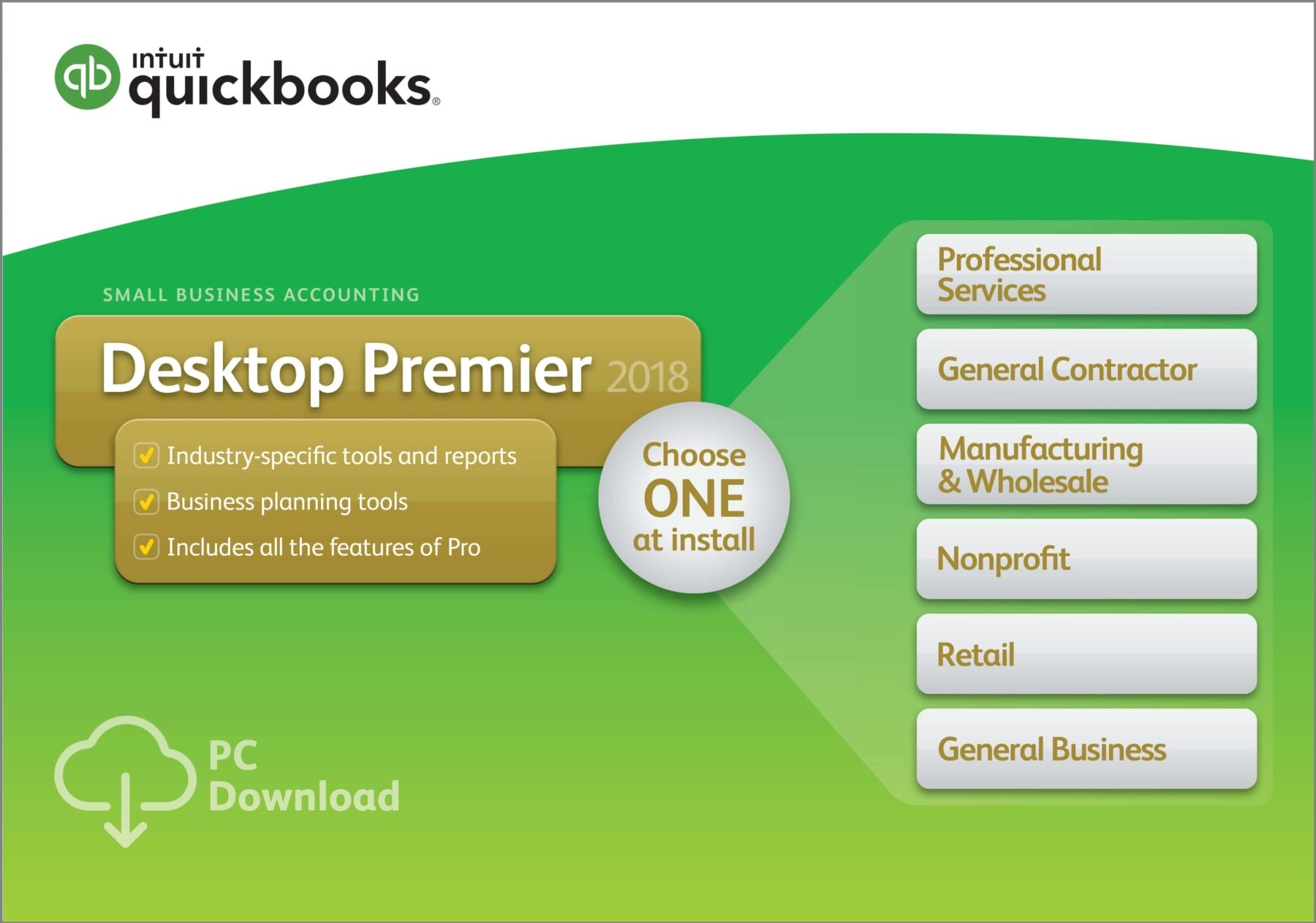 QuickBooks Desktop Premier 2018 Accounting Software