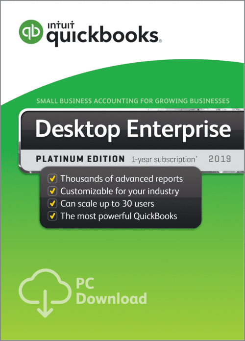 QuickBooks Enterprise Platinum 2019 edition