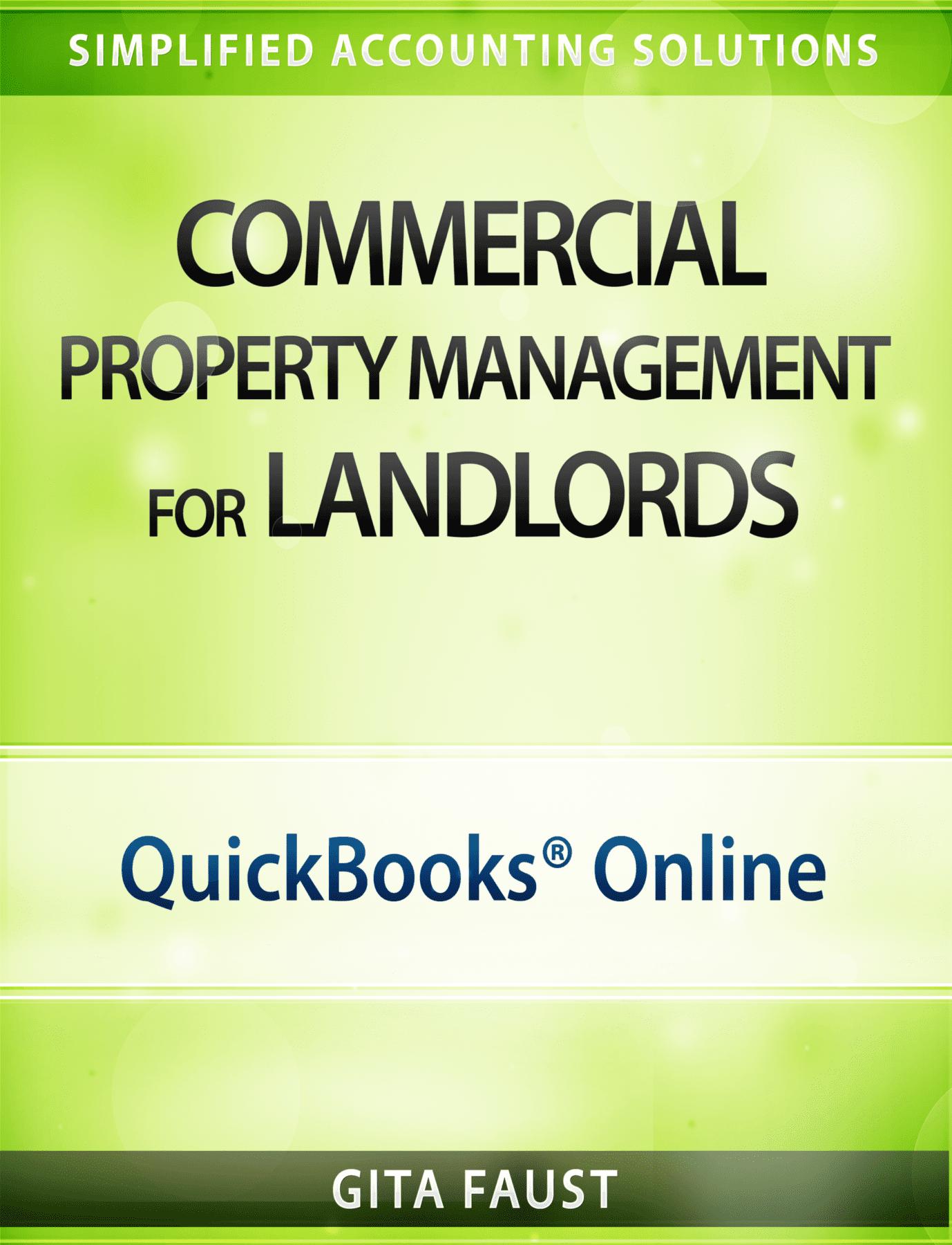 QuickBooks Online for Commercial Real Estate Investors Rentals