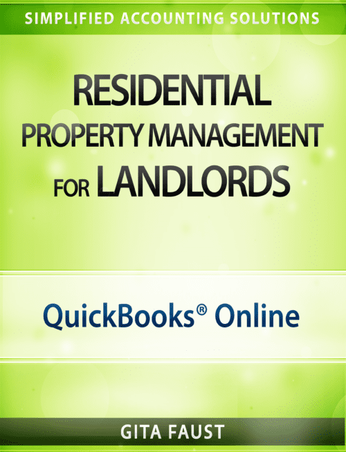 QuickBooks Online for Real Estate Investors Rentals residential